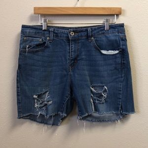 Levi's Distressed Demi Curve CutOff Shorts Size 14